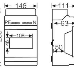 tủ điện nhựa kv 7106