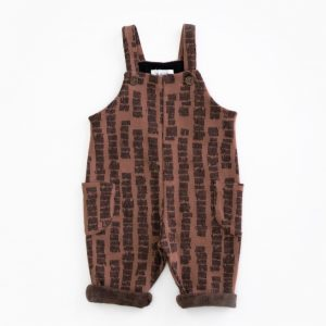 Dungarees with straps and pattern