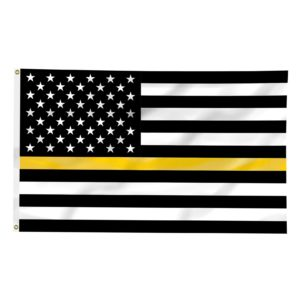 Thin Gold Line American Flag