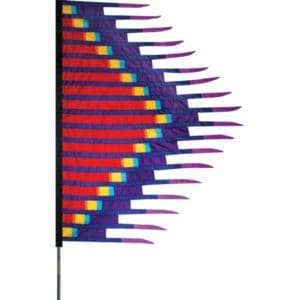 Grass Dance Feather Banner - Red