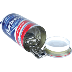 shave cream diversion safe with watch inside lid unattached