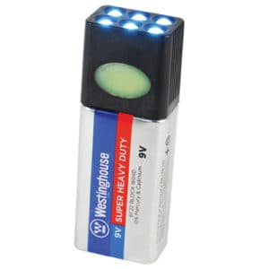 Blocklite 9 volt LED Flashlight Viewed with All Lights Illuminated