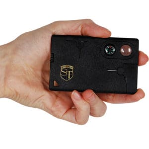 Multi Purpose Pocket Survival Card Viewed in Hand