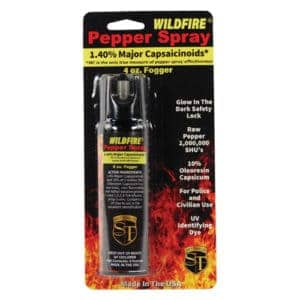 4 ounce Fire Master Wildfire™ 1.4% MC Pepper Spray Fogger Viewed in Blister Pack