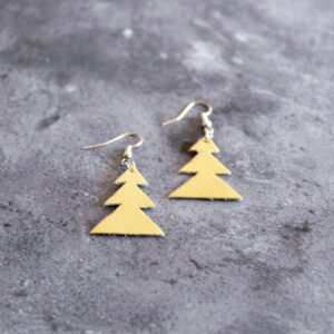 Soup of Success White Tree Earrings