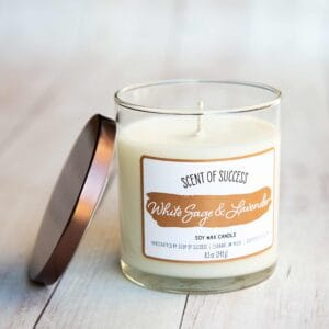 Open Soup of Success White Sage & Lavender Soy Candle