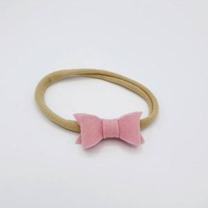 Nylon haarbandje met vilten strik (kies je kleur!)