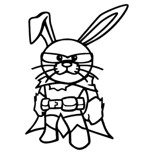 Strijkapplicatie cool bunny