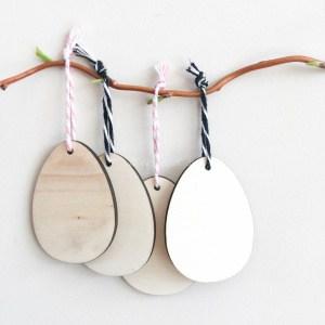 Houten hangers paaseitjes