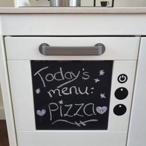 Keuken Sticker oven krijtbord