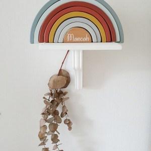 Little Dutch houten regenboog natuurtinten met naam
