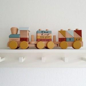 Little Dutch houten trein pure & nature okergeel