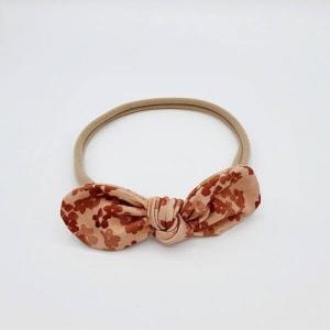 Haarband coral flowers stoffen strik