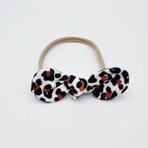 Haarband leopard strik