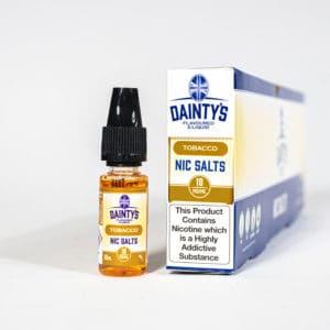 Eco Vape Dainty's Tobacco Nic Salt 10ml Orange White Background