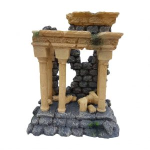 Roman Column Ruins Aquarium Ornament