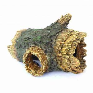 Hollow Log Aquarium Ornament