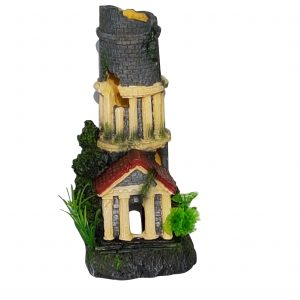 Roman Chimney Ornament Suitable for Aquariums, Fish Tank, BiOrb to Hide Airlines