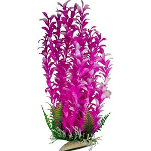 Magenta Aquarium Plant with Base 12 Inch Tall