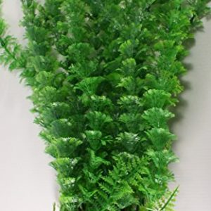 Green Bushy Aquarium Plant with Base 16 Inch Tall