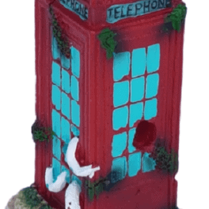 British Red Phone Box Aquarium Ornament