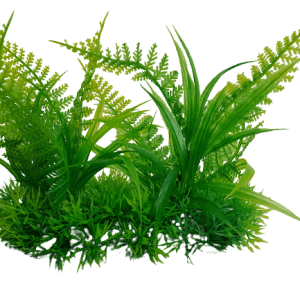 6 Inch Wide Artificial Aquarium Fern Ornament