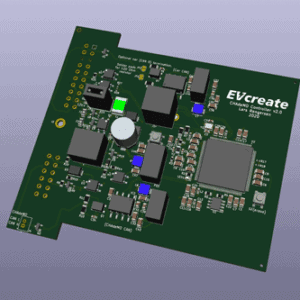 3D view CHAdeMO fast charging controller