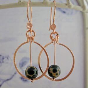 Jasper Hoop Earrings by Indigo Berry