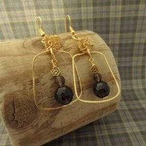Smokey Quartz Creel Earrings by Indigo Berry