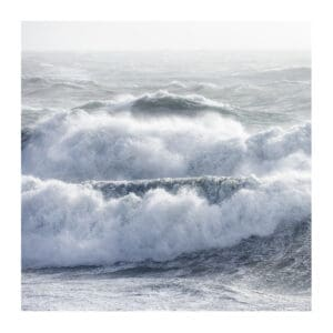Hebrides art print of ocean waves