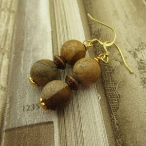 Jasper Earrings by Indigo Berry