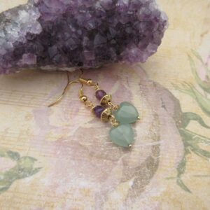 Aventurine and Amethyst Earrings by Indigo Berry