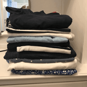 when you finish doing the laundry, fold it and put it away!