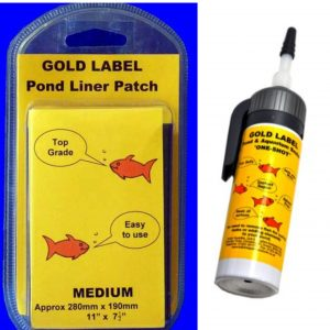 Our Pond Liner Leak Repair Kit is designed to patch and repair a small leak in your pond or water garden. FISH AND PLANT SAFE