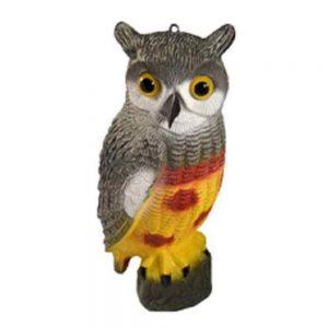 Owl Decoy For Fish Ponds
