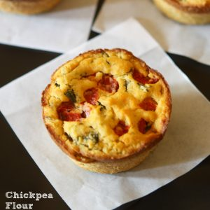 Chickpea Flour Mini Quiches {vegan, grain-free, gluten-free}