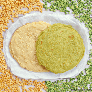 1-Ingredient Split Pea Tortillas {Grain-Free, Vegan}