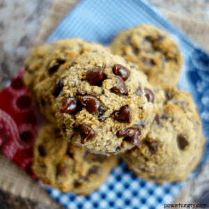 Soft Coconut Flour Chocolate Chip Cookies {vegan, grain-free, oil-free}