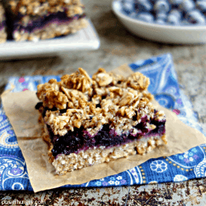 5 ingredient Blueberry Oat Breakfast Bars {vegan, sugar-free, oil-free, gluten-free}