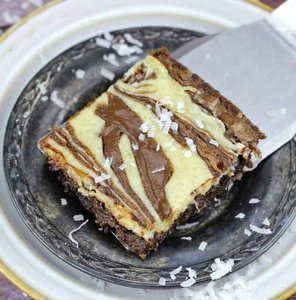 Nutella & Coconut Cheesecake Fudgy Brownies