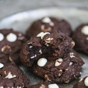 Chocolate Fudge White Chocolate Chip Cookies - Vegan & GF Options