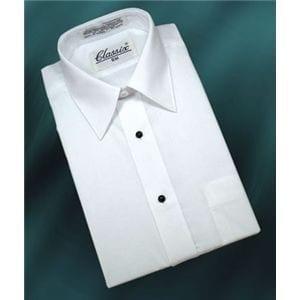 Boys Dress Shirt Takes Cufflinks Studs White