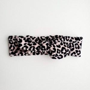 Stoffen haarband velvet leopard