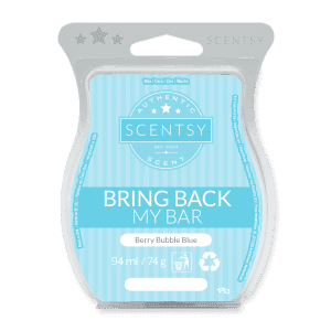 BERRY BUBBLE BLUE SCENTSY WAX BAR
