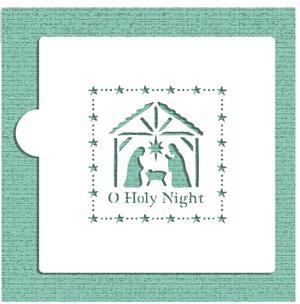 O Holy Night Baking Stencil Nativity