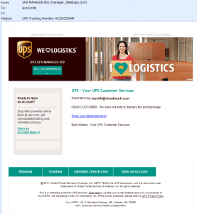 ups package not delivered email scam