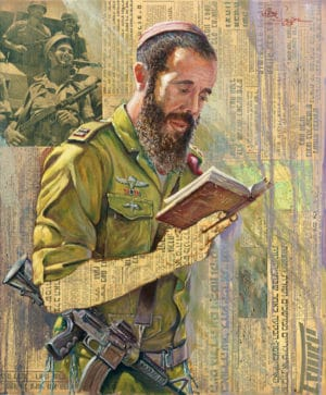 Israel soldier painting