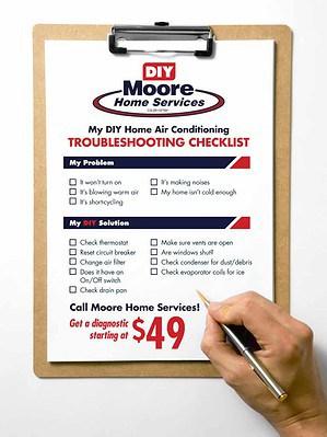 AC DIY troubleshooting checklist