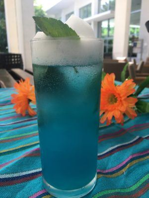A welcome cocktail at sian ka'an luxury resort