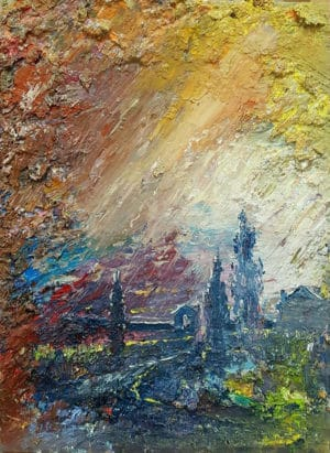 contemporary painting of Venice